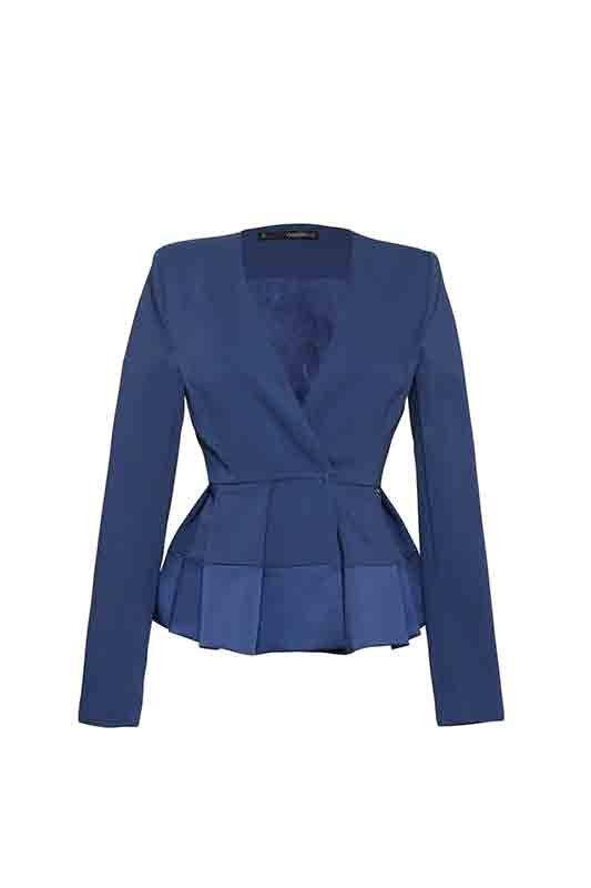 ANNARITA-N-ss16-(1)DEEP BLUE SOMETHING PER IL DAY&NIGHT DI ANNARITAN_giacca blu_MilanoPlatinum
