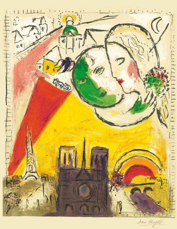 """""""Marc Chagall. La Vie"""". L'artista russo in mostra ad Aosta al Forte di Bard_Le Dimanche_MilanoPlatinum (© Chagall®, by SIAE 2016)"""