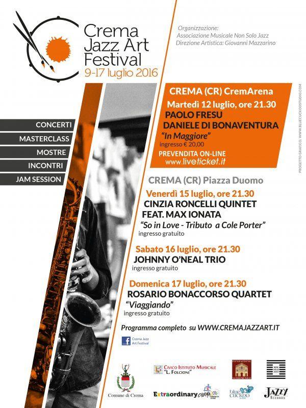 Locandina Crema Jazz Art Festival 2016