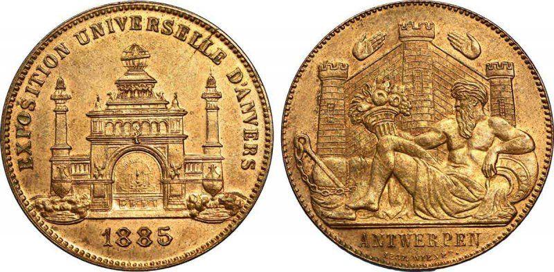 EXPO 1885 ANVERSA_monete_MilanoPlatinum
