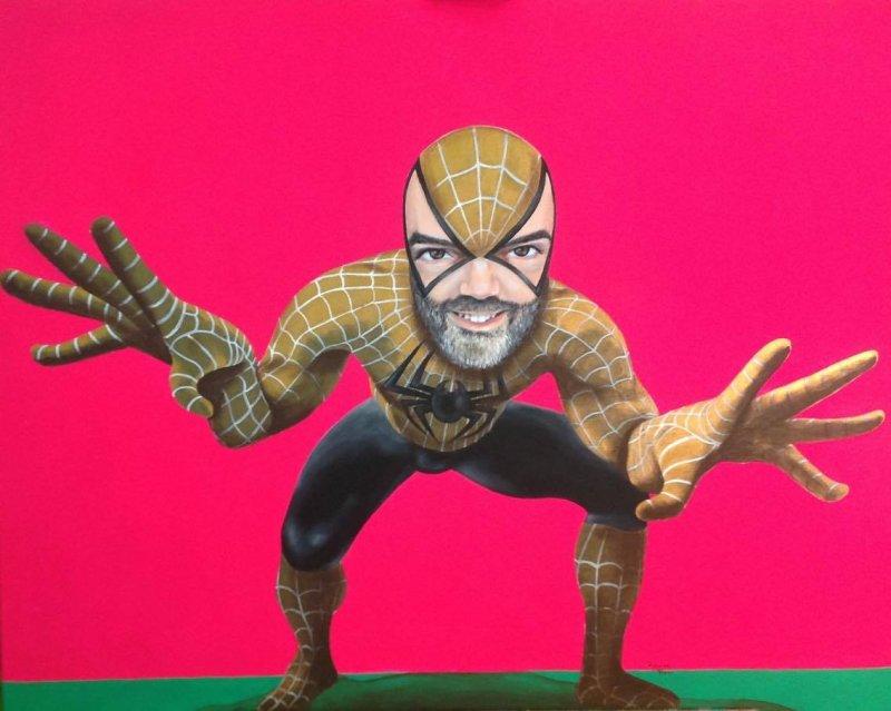 Piero Figura, un eclettico Peter Pan_spider man_MilanoPlatinum