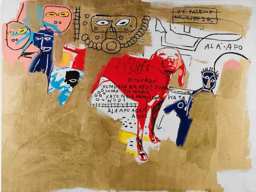 Jean-Michel Basquiat in mostra al MUDEC_Jean-Michel Basquiat & Andy Warhol Dog, 1984 Acrylic, silkscreen ink, oil stick and oil on canvas, 202,8x269,5 cm © The Estate of Jean-Michel Basquiat by SIAE 2016_MilanoPlatinum