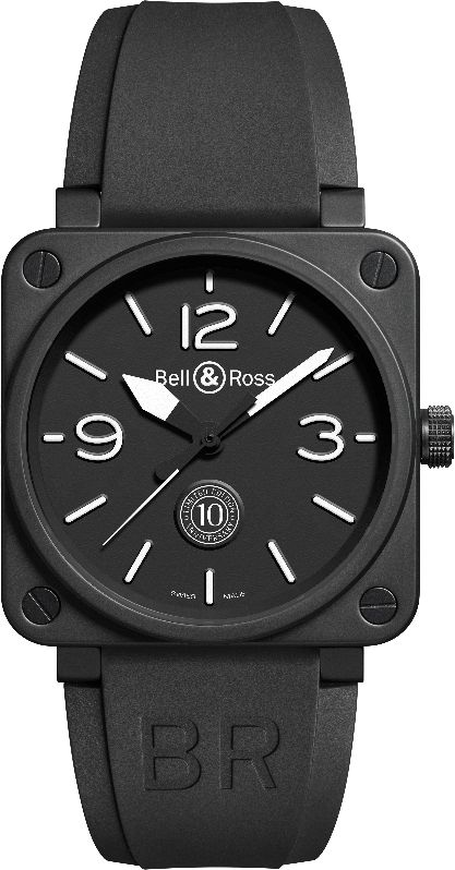 Bell&Ross BR 01 10 Anniversary_Rubber_MilanoPlatinum