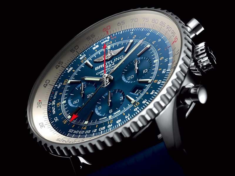 Breitling Navitimer GMT Aurora Blue_quadrante_MilanoPlatinum