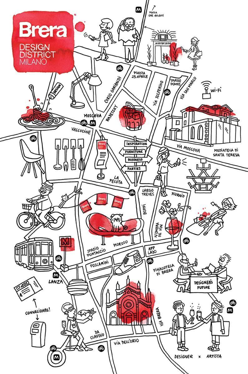 Fuorisalone 1: Brera Design District_map_MilanoPlatinum