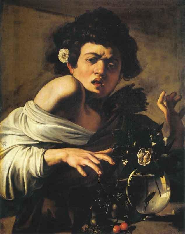 Michelangelo-Merisi-da-Caravaggio-Fanciullo-morso-da-un-ramarro,-1596-1597-Olio-su-tela,-65,8-x-52,3-cm-©Firenze,-Fondazione-di-Studi-di-Storia-dell'Arte-Roberto-Longhi