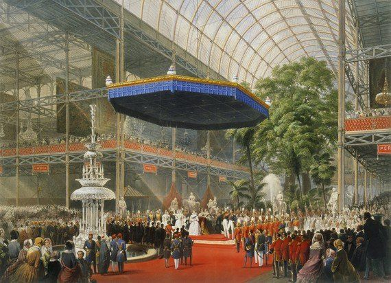 Crystal Palace - Queen Victoria opens the Great Exhibition (Wikimedia Commons)