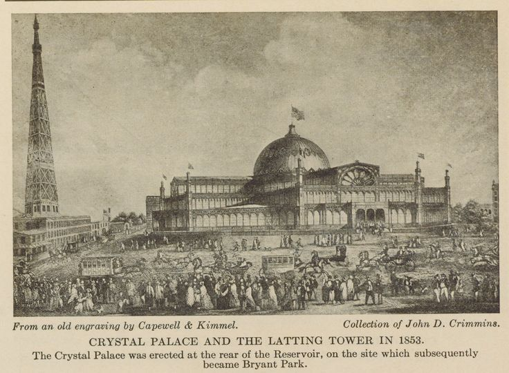 Crystal Palace and Latting Tower 1853 (pinterst.com)