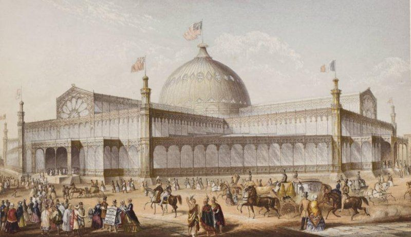 New York Crystal Palace - By Karl Gildemeister (1820-1869) [Public domain], via Wikimedia Commons