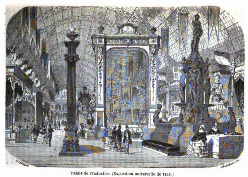 Palais de l'Industrie (Exposition Universelle 1855) - By E. Thérond [Public domain], via Wikimedia Commons
