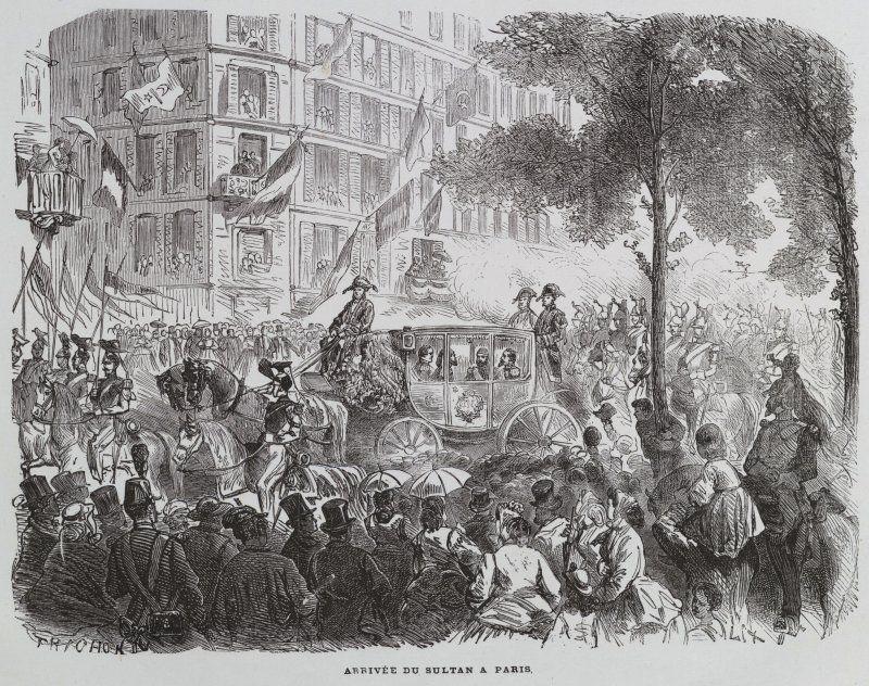 Expo 1867 Parigi - Arrivo dell'Imperatore - By Trichon [Public domain], via Wikimedia Commons