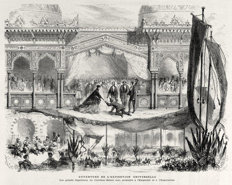 Expo 1867 Parigi - Inaugurazione - By C. Maurand [Public domain], via Wikimedia Commons