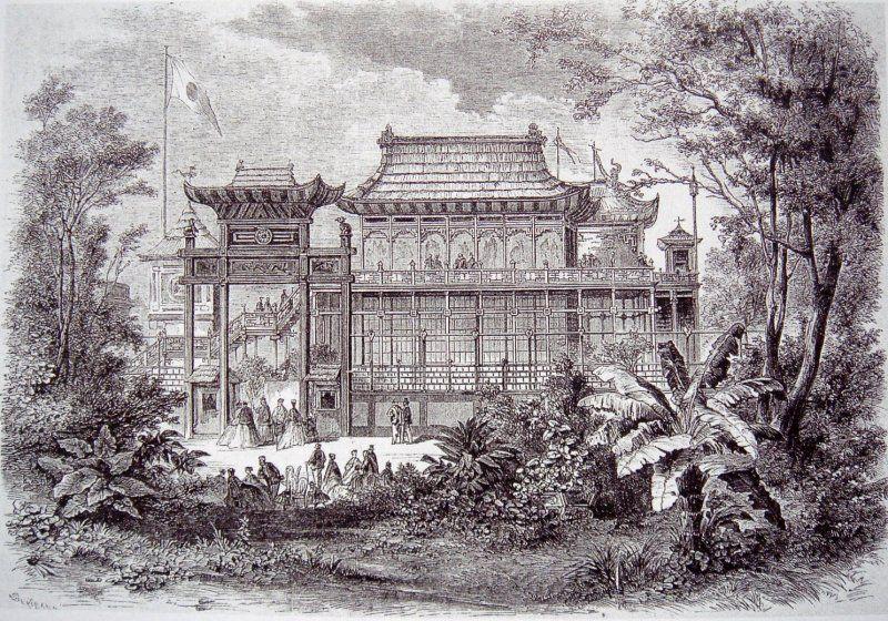 Expo 1867 Parigi - Padiglione Cinese-Giapponese - [Public domain], via Wikimedia Commons