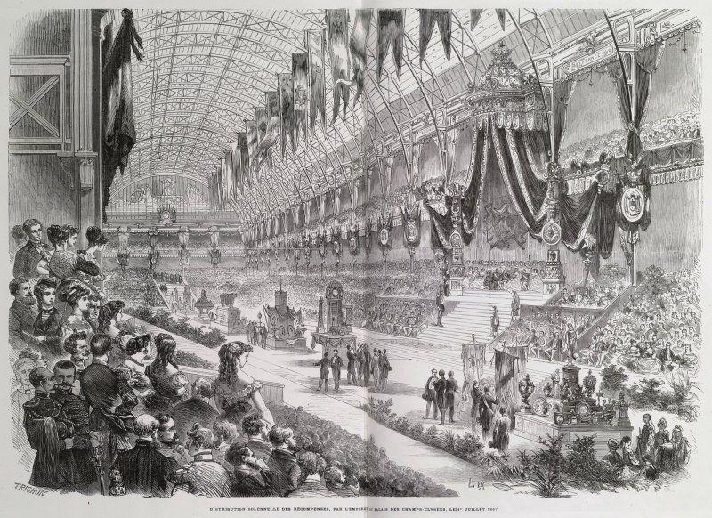 Expo 1867 Parigi - Premiazione solenne - By Trichon [Public domain], via Wikimedia Commons