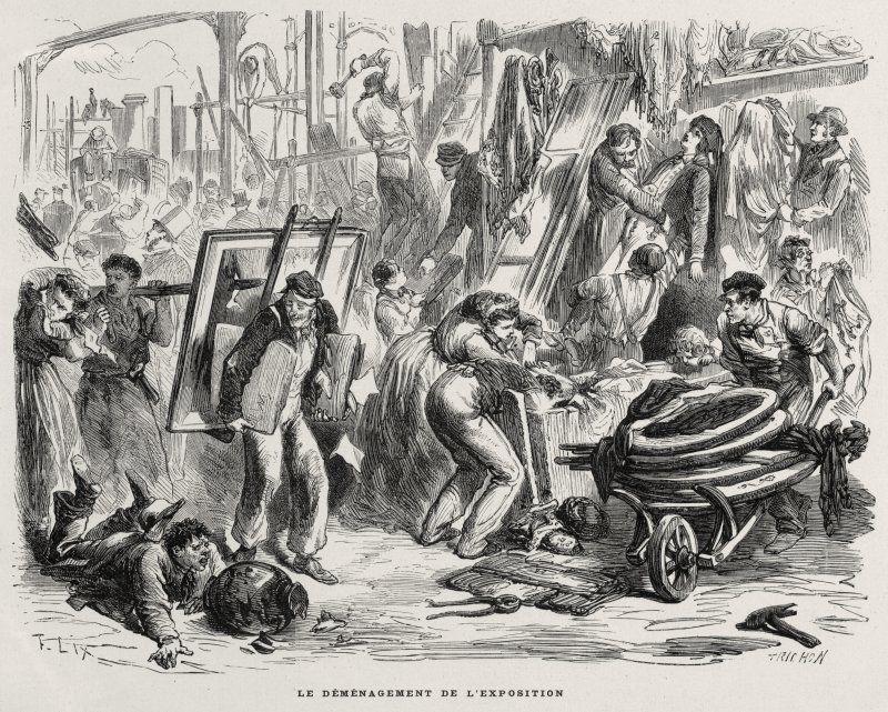 Expo 1867 Parigi - Smantellamento dell'Esposizione - By Trichon [Public domain], via Wikimedia Commons