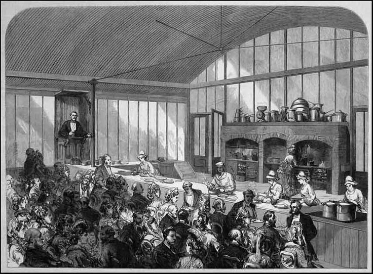 Expo 1873 London 01 - The School of Cookery at the International Exhibition 1873 (Illustrated London News) - via mirrormist.com