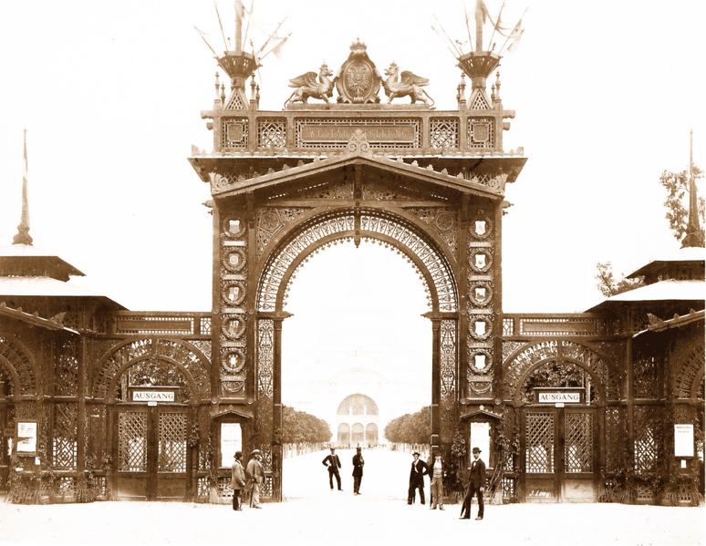 Expo 1873 Vienna, Ingresso principale - Josef Löwy [Public domain], via Wikimedia Commons