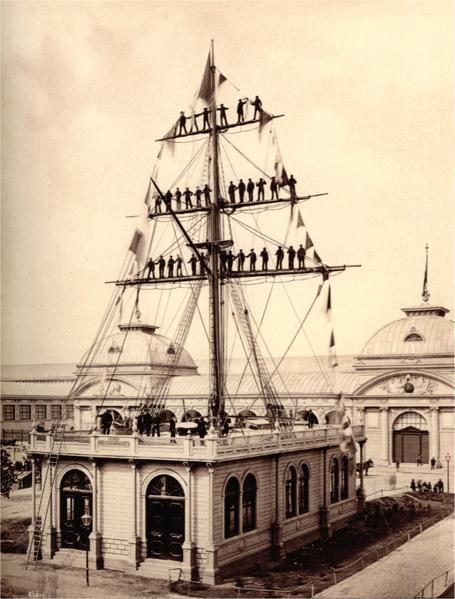 Expo 1873 Vienna, padiglione dei Lloyd austro-ungarici - György Klösz [Public domain], via Wikimedia Commons