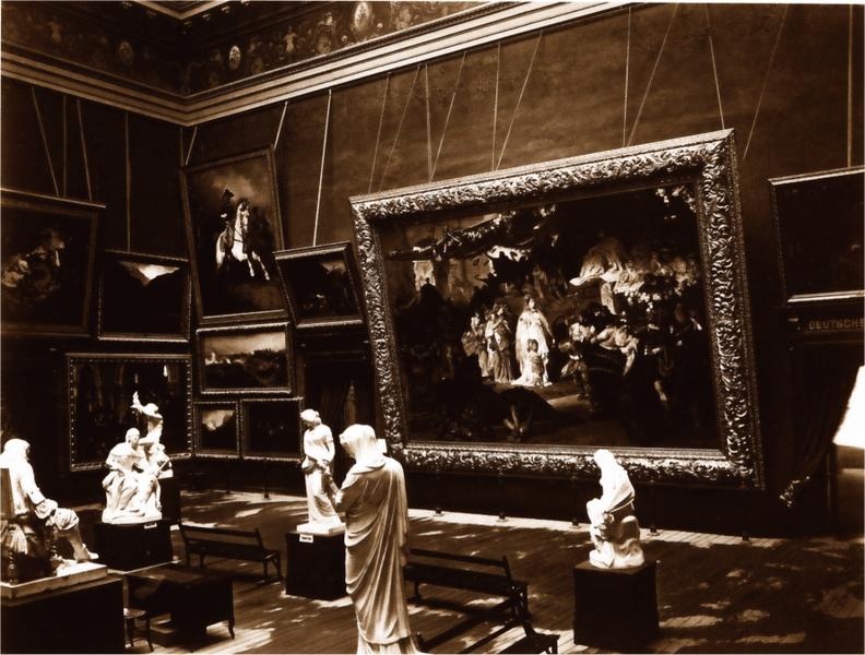 Expo 1873 Vienna, padiglione dell'Arte - Oscar Kramer [Public domain], via Wikimedia Commons