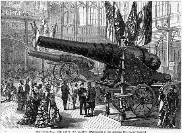 Expo 1876 Philadelphia, Krupp_Exhibit By Centennial Photographic Company - Harper's Weekly [Public domain], via Wikimedia Commons