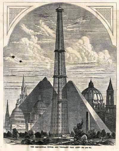 Expo 1876 Philadelphia, The Centennial Tower - By user Jeangagnon [Public domain], via Wikimedia Commons