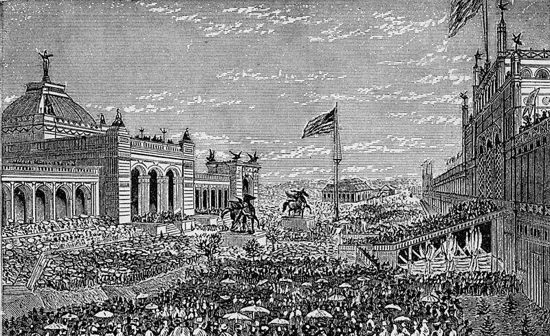 Expo 1876 Philadelphia, inaugurazione - By James D. McCabe [Public domain], via Wikimedia Commons