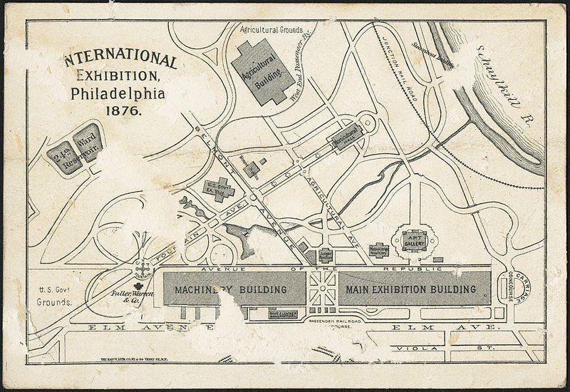 Expo 1876 Philadelphia, mappa - By Boston Public Library [Public domain], via Wikimedia Commons