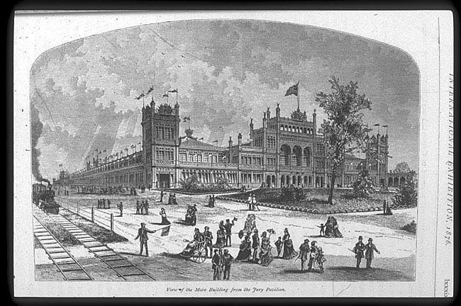 Expo 1876 Philadelphia, padiglione centrale - By Smithsonian Institution Libraries, [Public domain], via Wikimedia Commons
