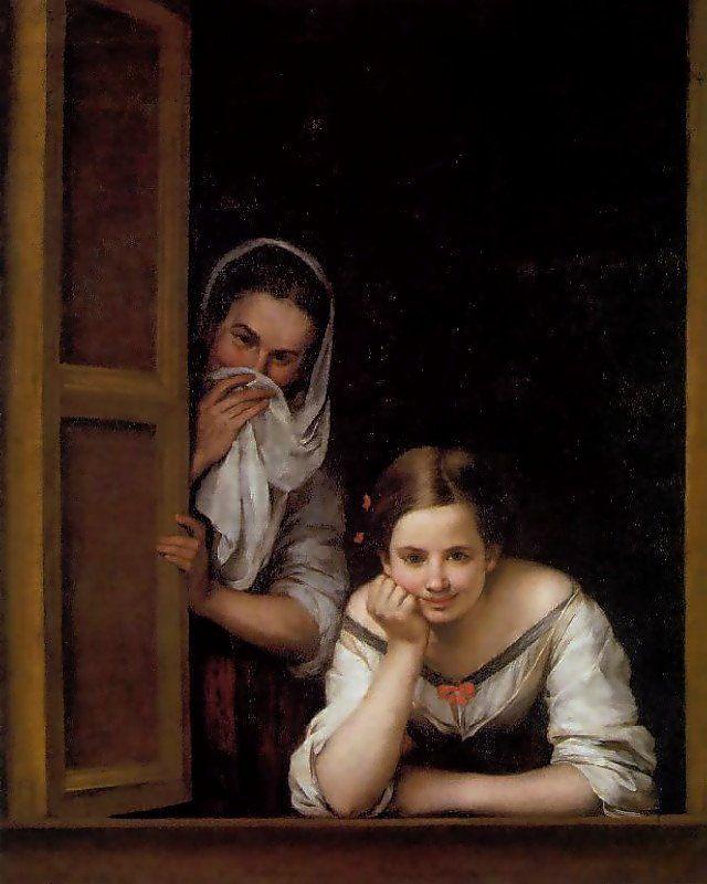 Bartolomé Esteban Murillo - Galiziane alla finestra (o Las Gallegas), 1655-60, National Gallery di Washington