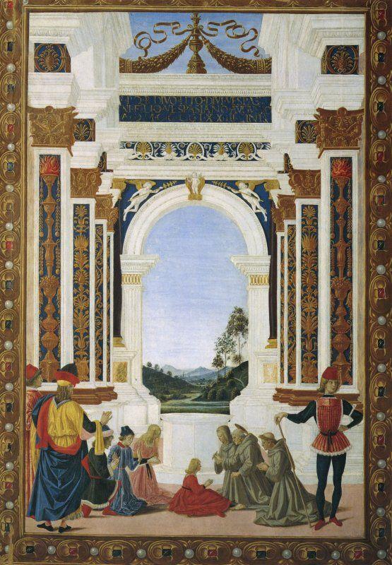 Pietro Perugino - San Bernardino risana una fanciulla (1473)
