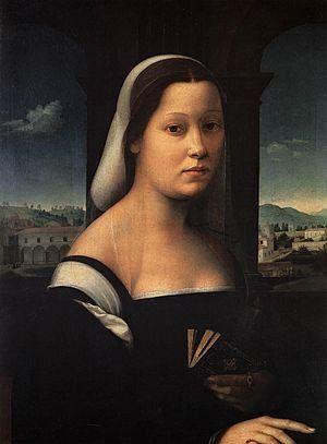Ridolfo del Ghirlandaio - Donna velata, 1510 circa, Uffizi, Firenze