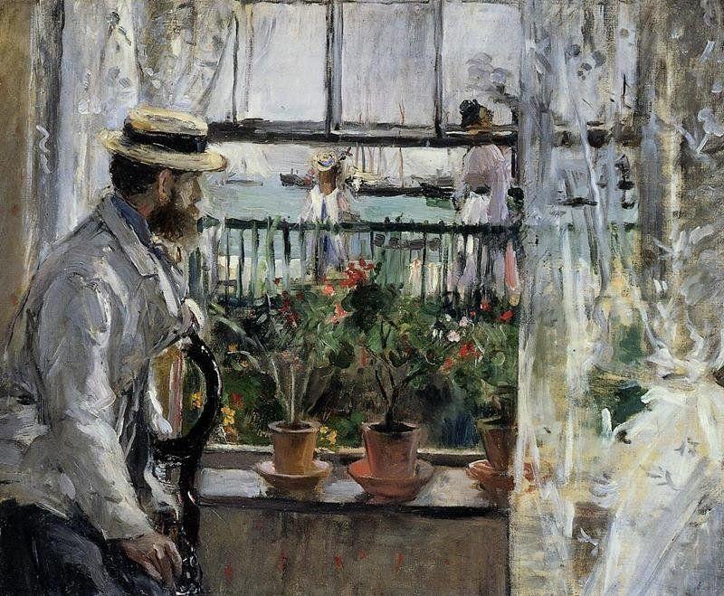 Berthe Morisot - Eugène Manet all'isola di Wight