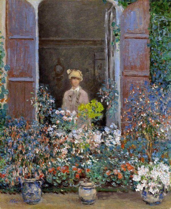 Claude Monet - Camille Monet alla finestra (1873)