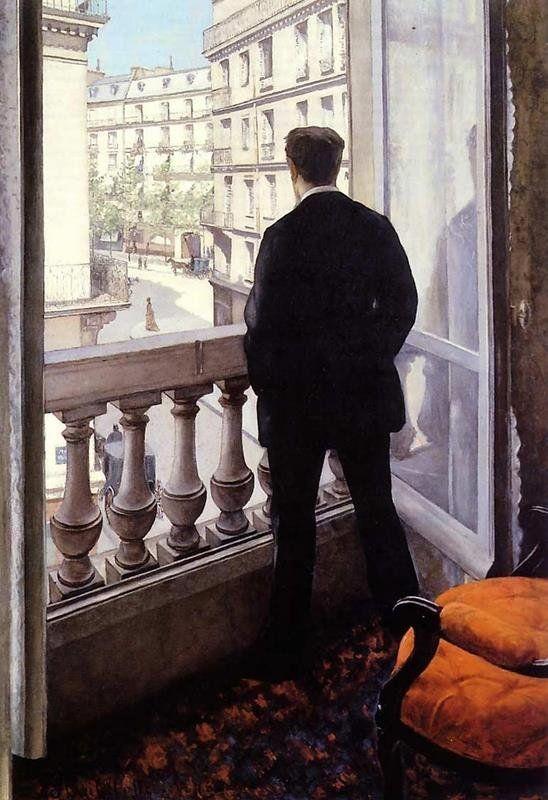Gustave Caillebotte - Giovane uomo alla finestra (1875)
