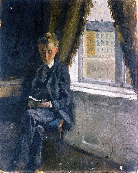 POST-IMPRESSIONISMO ED ESPRESSIONISMO - Edvard Munch - Andreas Reading (1882-83)