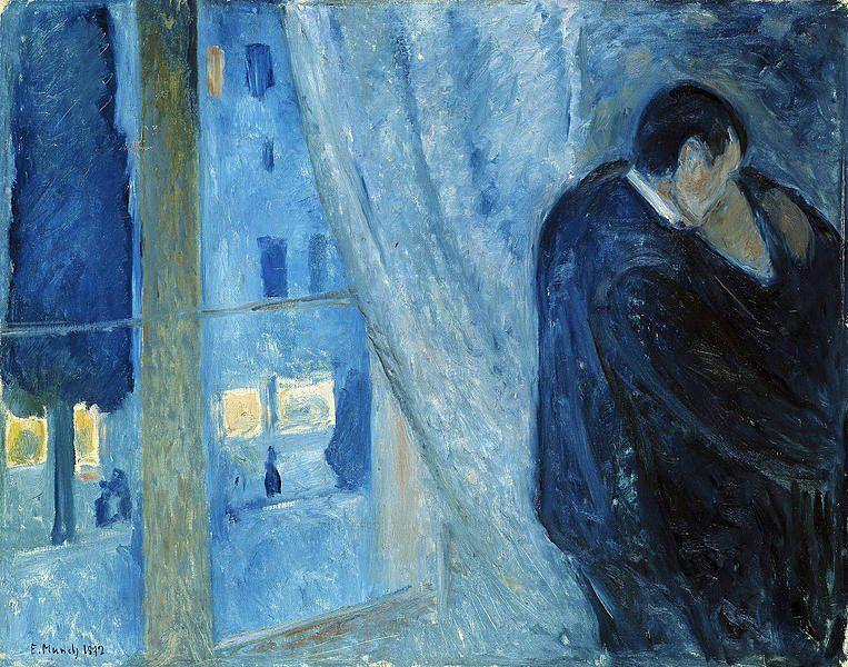 POST-IMPRESSIONISMO ED ESPRESSIONISMO - Edvard Munch - Bacio alla finestra, 1892