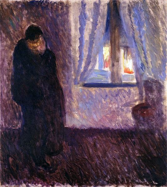 POST-IMPRESSIONISMO ED ESPRESSIONISMO - Edvard Munch - Kiss by the Window (1891)