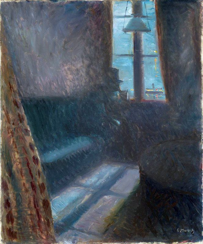 POST-IMPRESSIONISMO ED ESPRESSIONISMO - Edvard Munch - Notte a Saint-Cloud, 1890.