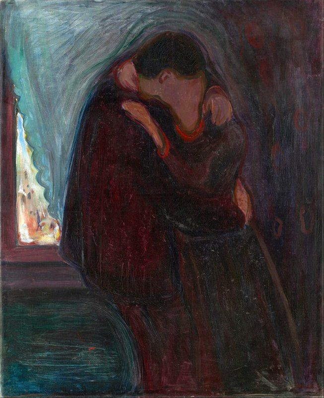 POST-IMPRESSIONISMO ED ESPRESSIONISMO - Edvard Munch - The Kiss (Google Art Project)