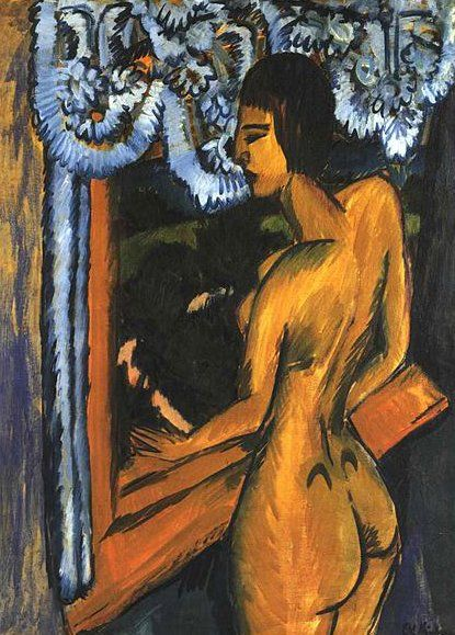 POST-IMPRESSIONISMO ED ESPRESSIONISMO - Ernst Ludwig Kirchner - Brauner Akt am Fenster, 1912