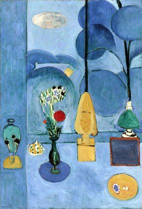 POST-IMPRESSIONISMO ED ESPRESSIONISMO - Henri Matisse, La glace sans tain (The Blue Window), 1913, Museum of Modern Art
