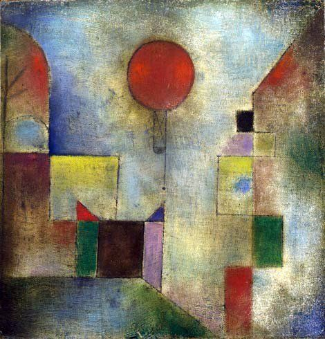 POST-IMPRESSIONISMO ED ESPRESSIONISMO - Paul Klee - Red Balloon, 1922, The Solomon R. Guggenheim Museum, New York