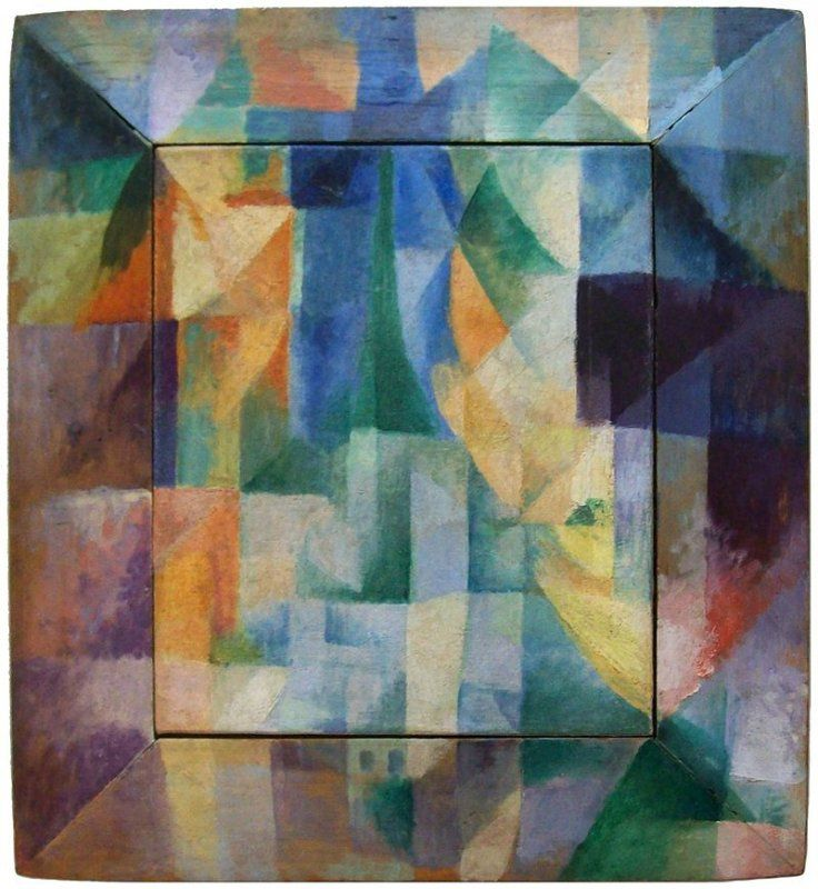 POST-IMPRESSIONISMO ED ESPRESSIONISMO - Robert Delaunay - Les Fenêtres simultanée sur la ville, 1912, Kunsthalle Hamburg