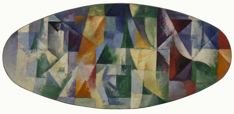 POST-IMPRESSIONISMO ED ESPRESSIONISMO - Robert Delaunay -  Windows Open Simultaneously 1st Part, 3rd Motif, Solomon R., 1912,  Guggenheim Museum