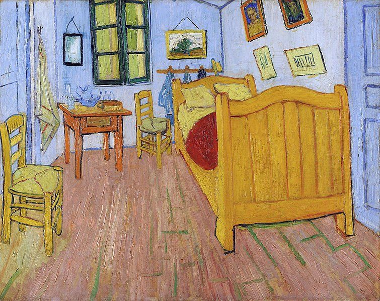 POST-IMPRESSIONISMO ED ESPRESSIONISMO - Vincent Van Gogh, La camera da letto di Arles, 1888, Amsterdam, Van Gogh Museum (Google Art Project adjusted)