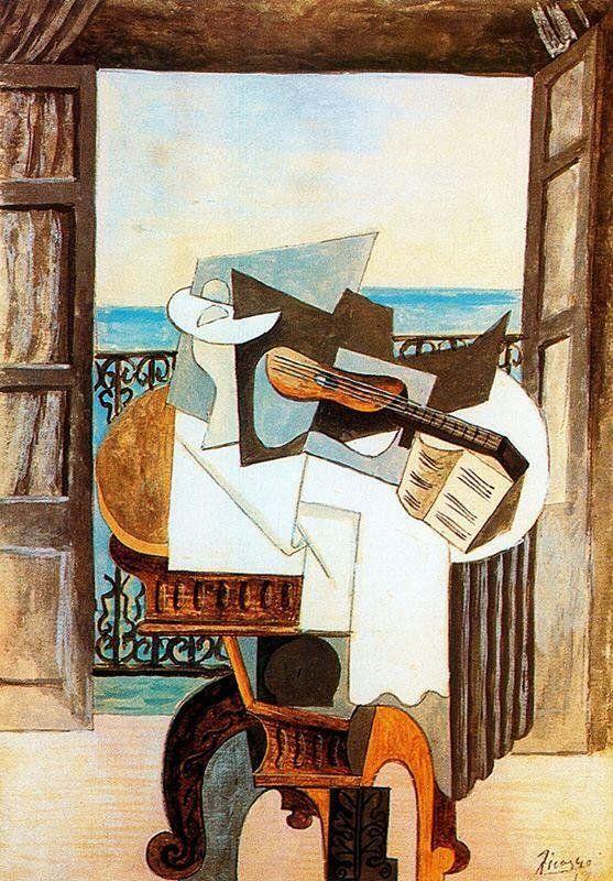 Pablo Picasso - La table devant la fenetre, 1919 (WikiArt.org)