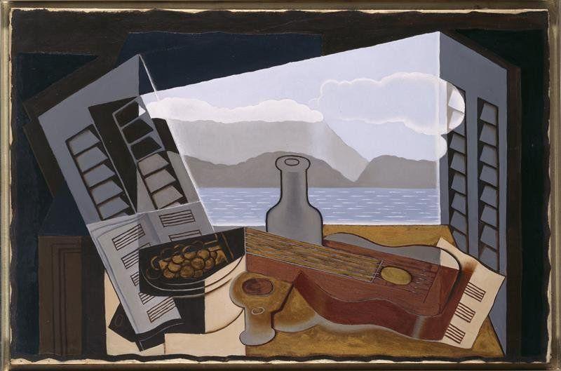 Juan Gris - La fenêtre ouverte, 1921 (Juan Gris [Public domain or Public domain], via Wikimedia   Commons)