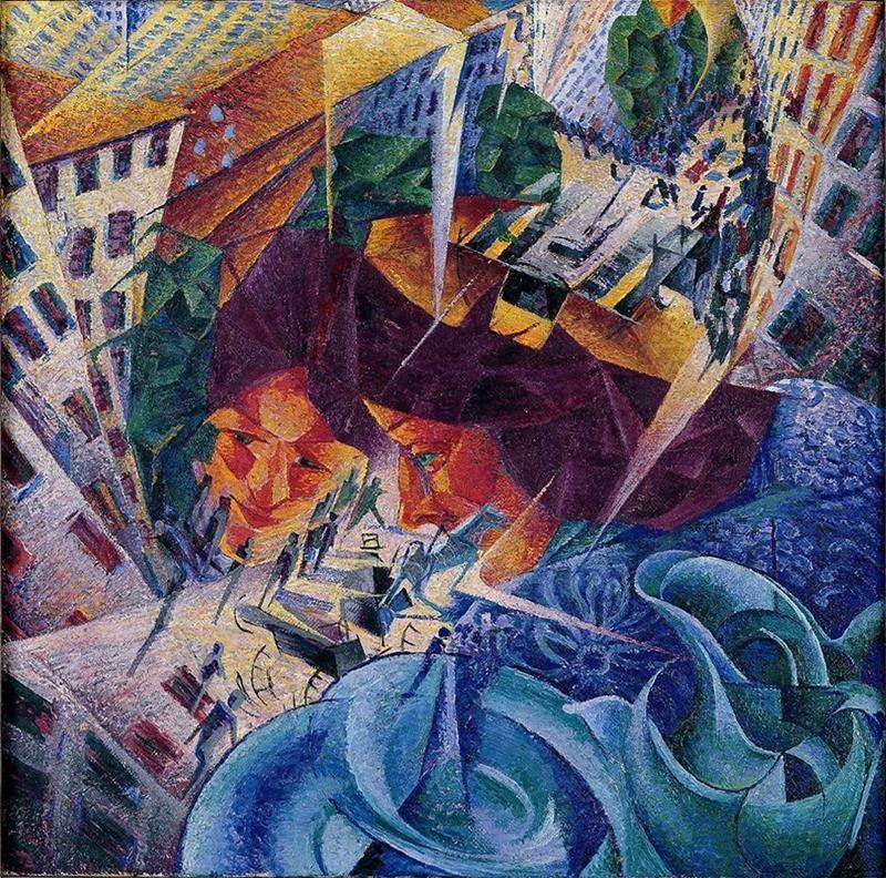 Umberto Boccioni - Visioni simultanee, 1911, Wuppertal, Von der Heydt Museum (Umberto Boccioni [Public domain], attraverso Wikimedia   Commons)