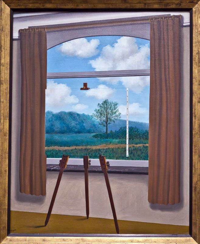 René Magritte - Condizione umana, 1933, National Gallery of Art di Washington (Flikr.com Creative Commons)