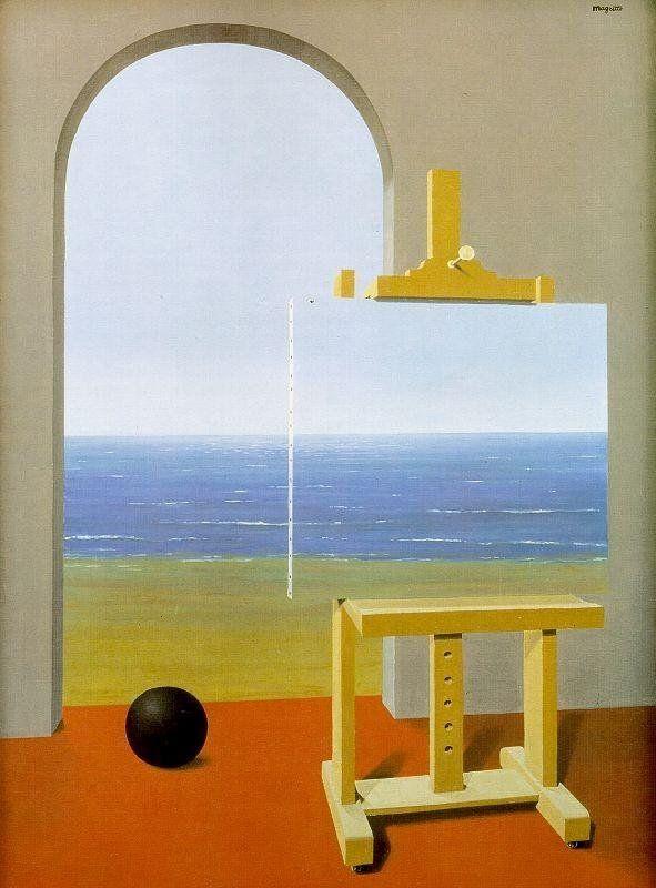 René Magritte - La Condizione umana II, 1935 (Flikr.com Creative Commons)